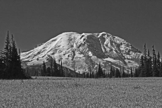 Mount Rainier Black & White
