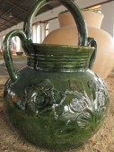 Green glazed pottery is produced in Atzompa