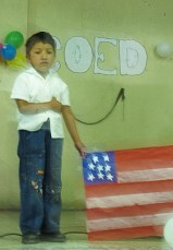 Children made this beautiful US flag
