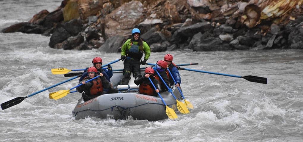 rafting excursion Nenana Canyon Alaska