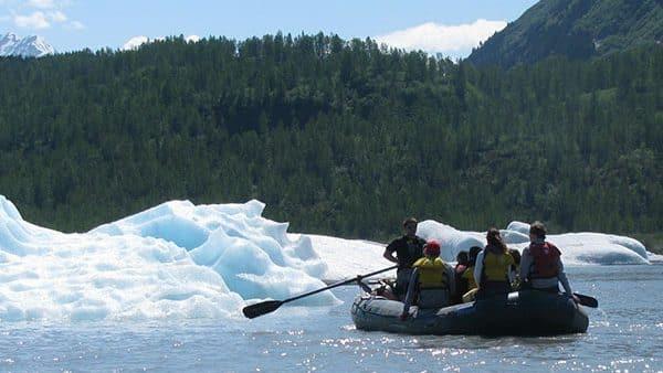 Spencer Glacier iceberg float Alaska