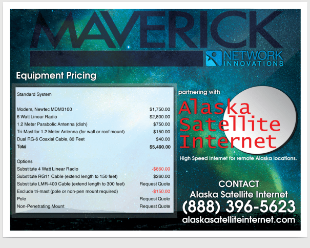 Maverick Equipment Pricing Web Image