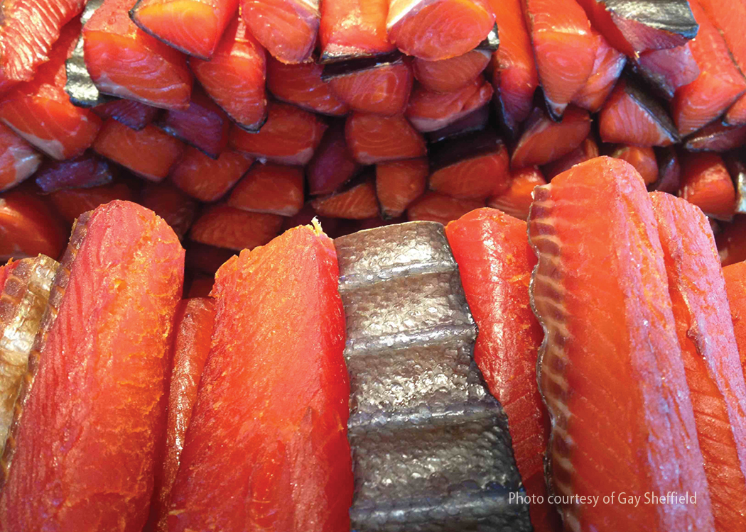 photo of smoked salmon