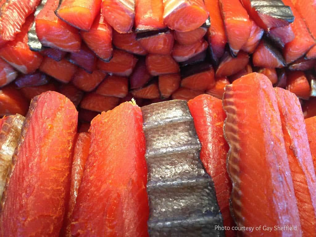 photo of smoke salmon
