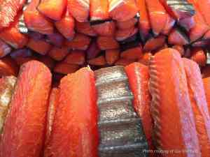 photo of smoke salmon