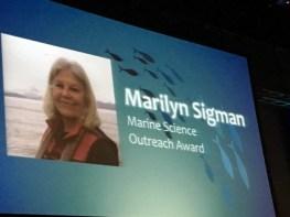 Poster: Marilyn Sigman, Marine Science Outreach Award