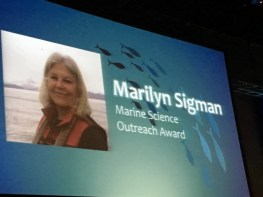 Poster: Marilyn Sigman, Marine Science Outreach Award
