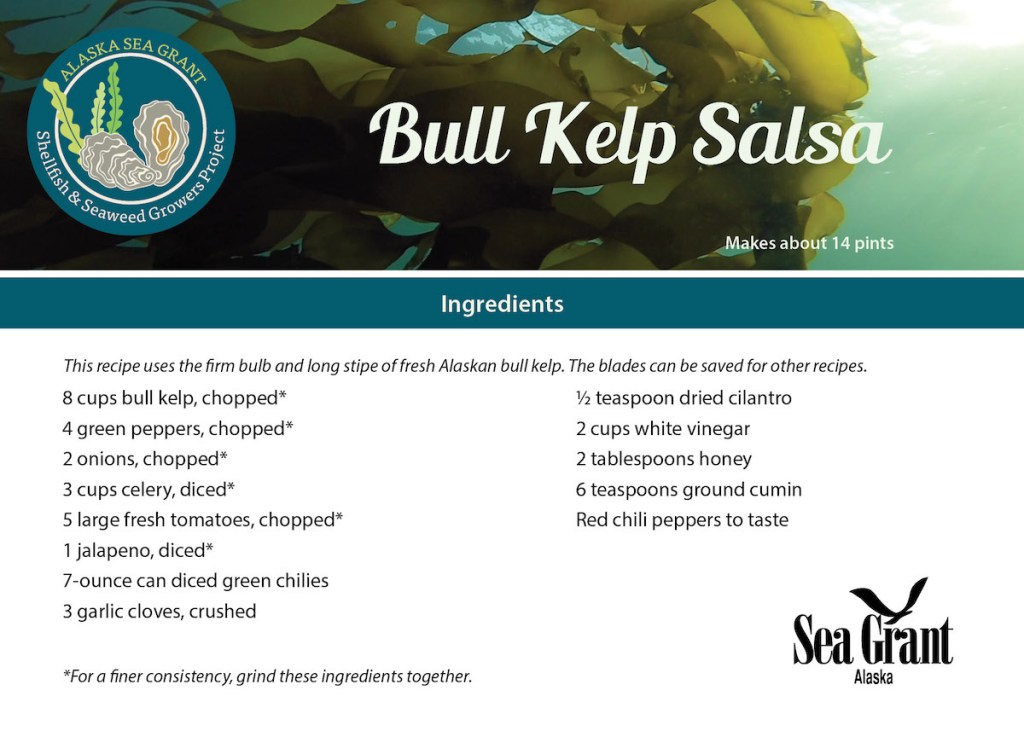 Card with Bull Kelp Salsa recipe details