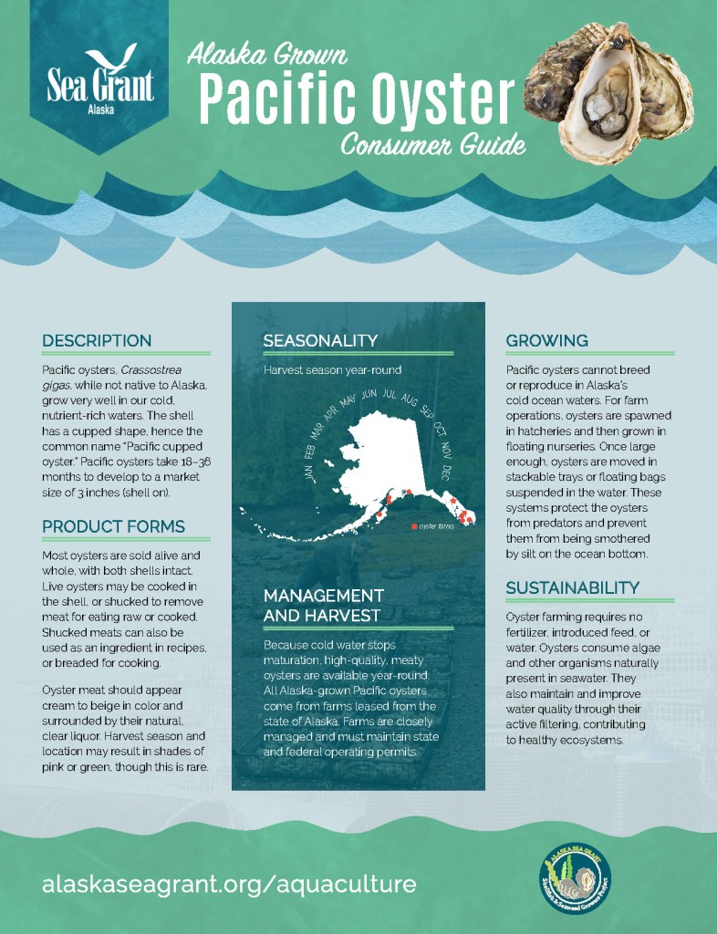 Alaska Grown Pacific Oyster Consumer Guide page 1