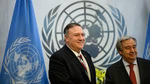 صورة بومبيو: سلمنا مجلس الأمن الدولي خطاباً لإبلاغه بإطلاق عملية إعادة فرض العقوبات الأممية على إيران