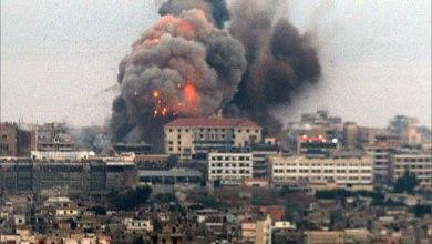 صورة تفجيرات بيروت … محور الشر  يرتكب الجريمة