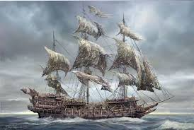 صورة الهولندي الطائر تسمية أُطلقت على سفينة أشباح أسطورية لا يمكنها أن ترسو في ميناء