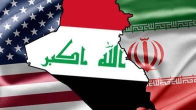 صورة حول بحث أمريكا عن حجة لضرب العراق وإيران ؛  (( الاعلام الكاذب يحترق بالمنطق ))