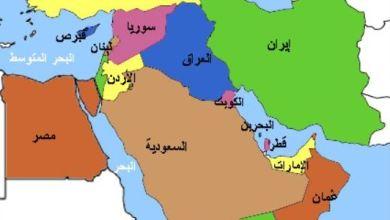 صورة خارطة النفوذ في منطقة الشرق الأوسط