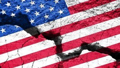 صورة الولايات المنقسمة الامريكية !