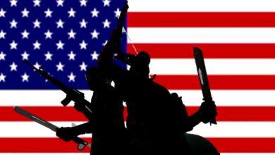 """صورة """"امريكا تقتل أبنائنا وتلوذ بحكومتنا"""""""