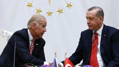 صورة إردوغان يستنجد ببايدن ضدّ بوتين.. في سوريا