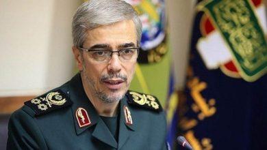 صورة قائد هيئة الأركان الإيرانية: إسرائيل لن تنعم بالهدوء في حال واصلت أعمالها ضد إيران