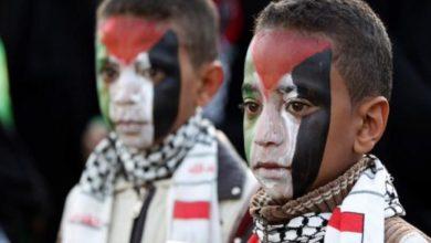 صورة الوقوف مع القضية الفلسطينية فطرة توجد لدى كل يمني منذ الطفولة