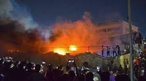 صورة حريق الناصرية، من وراءه؟ الفساد، أم تآمر السفرات؟