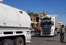 صورة وصول الوقود الى لبنان ، حزب الله الحل لمشاكل لبنان وليس مشكلته