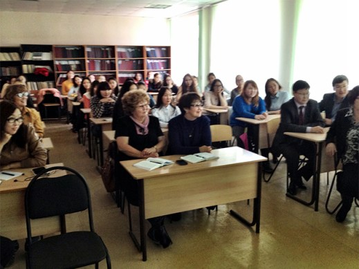 The audience of trainee teachers at the Education Institute, North Eastern Federal University, Yakutsk
