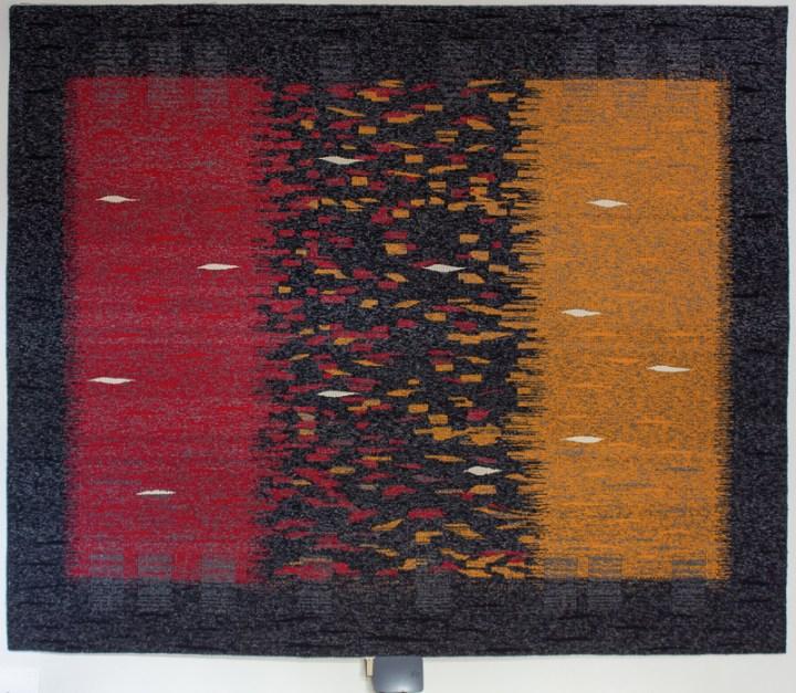 Metamorphosis - audio interactive tapestry weaving