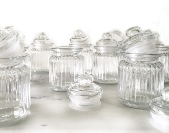 Glass Jars Eye Level