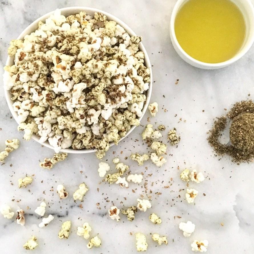 Za'atar and Olive Oil Popcorn