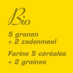 Bio 5 granen + 2 zaden meel