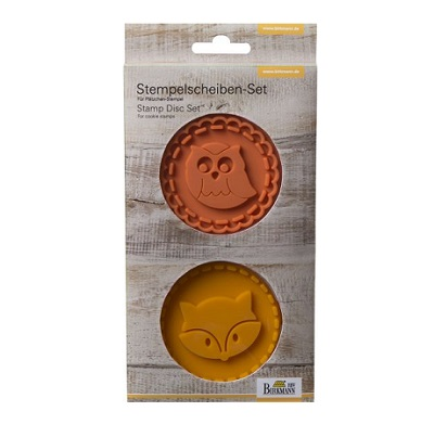 Set koekjesstempels 'Uil en vos'
