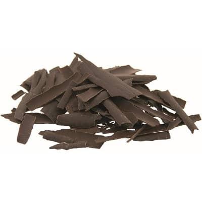 chocoladeschilfers van fondantchocolade