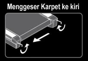 Cara sederhana memperbaiki posisi karpet pada Treadmill