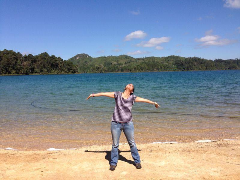 Yo en las lagunas de Montebello
