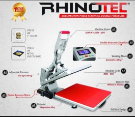Mesin Press Kaos Sublim Double Pressure Rhinotec RSM 01