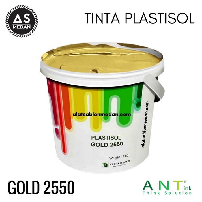 Tinta Sablon Kaos Ant ink Plastisol Gold