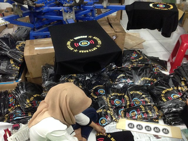 Sablon kaos manual aceh