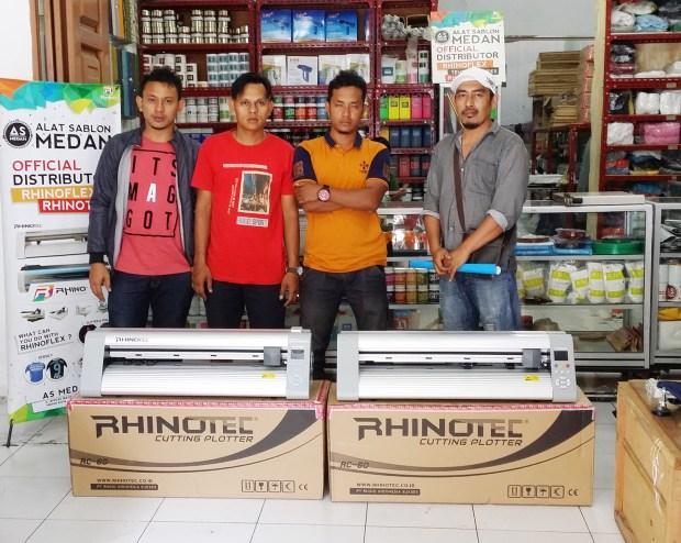 Pelanggan As Medan yg membeli mesin cutting Rhinotec