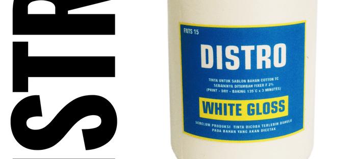 Tinta sablon kaos DISTRO White Gloss