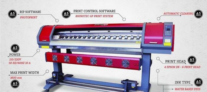 Mesin digital printing indoor