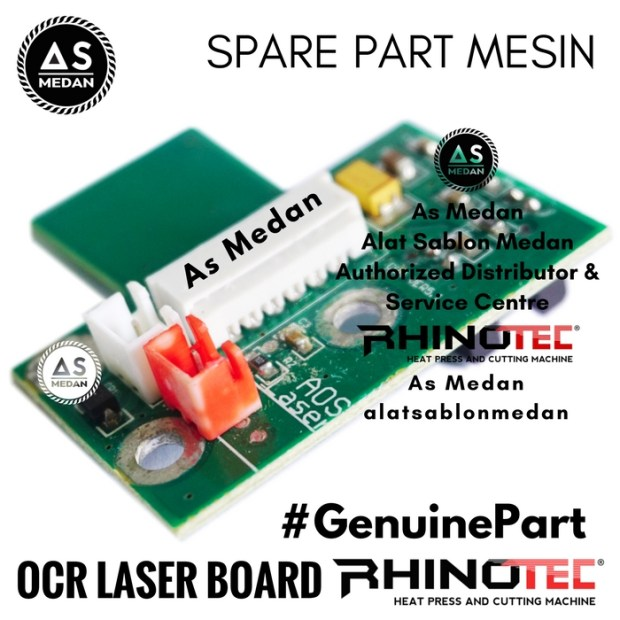 OCR Laser Board Sparepart Alat Sablon Digital Mesin Cutting Rhinotec