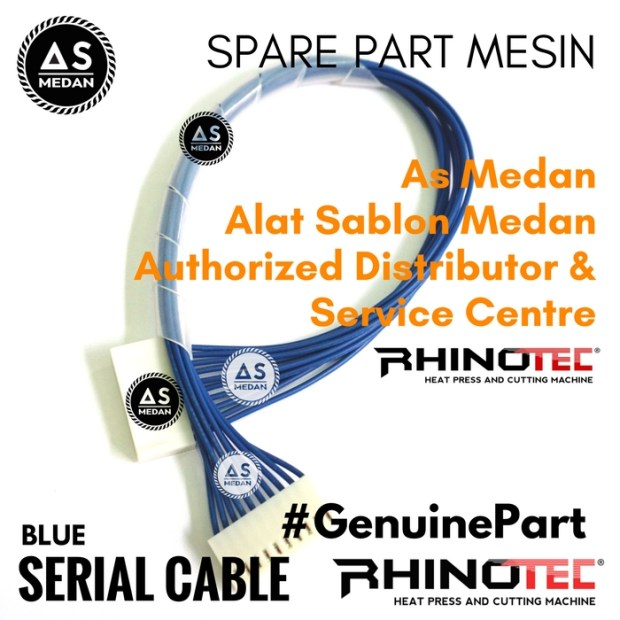 Serial Cable Blue Sparepart Alat Sablon Digital Mesin Cutting Rhinotec