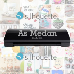 Mesin cutting sticker silhouette cameo 3 black