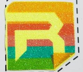 Rhinoflex Printable Glitter Neon Yellow Rainbow | Polyflex Korea