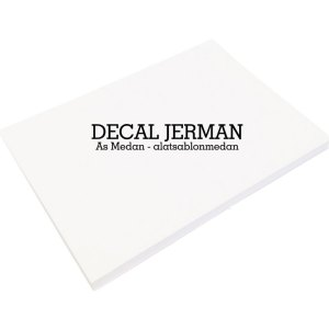 Kertas Decal Jerman - Kertas Sablon