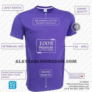 kaos polos ungu violet | koze medan