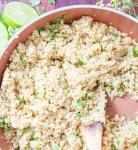 Cilantro Lime Quinoa in Saucepan