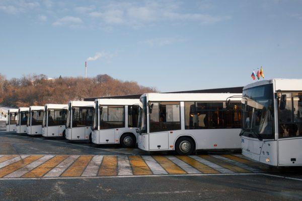 В Чебоксары прибыли 10 автобусов марки МАЗ в рамках ...