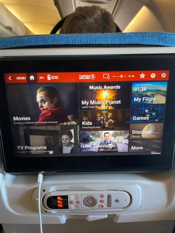 Onboard Entertainment On Turkish Airlines