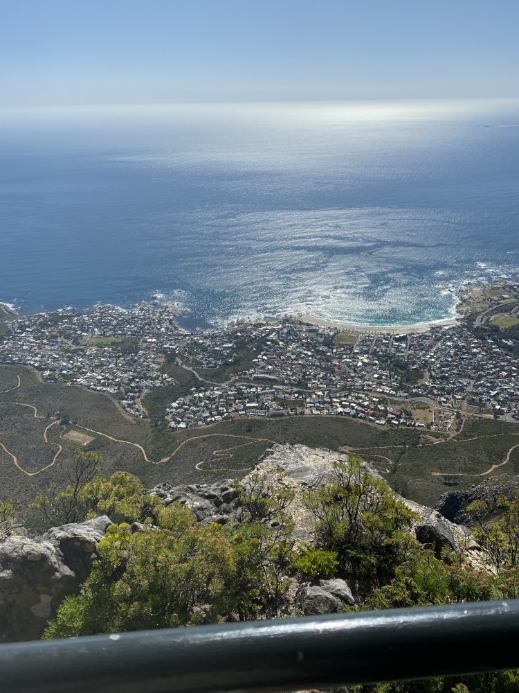 Looking down onto Camps Bay